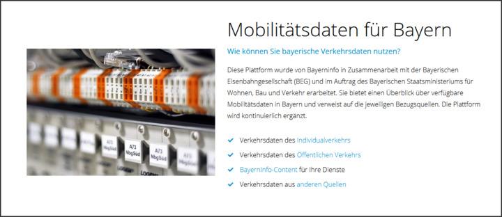 Bayerische Mobilitätsdatenplattform