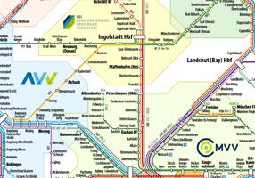 Liniennetzplan Bayern